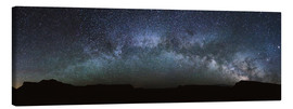 Toile  Panoramic of the Milky way arch in the sky, United States - Matteo Colombo