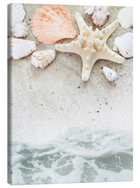 Tableau sur toile  Sea Beach with starfish