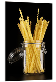 Tableau en PVC  Mafaldi pasta in a glass jar