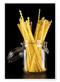 Poster  Mafaldi pasta in a glass jar