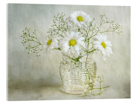 Tableau en verre acrylique  Still life with Chrysanthemums - Mandy Disher