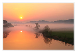 Poster Sunrise with mist