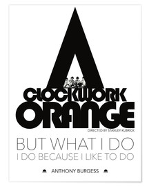 Poster Clockwork orange - Stanley Kubrick
