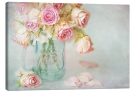 Tableau sur toile  lovely pink roses - Lizzy Pe