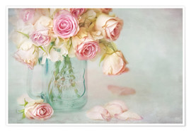 Poster lovely pink roses