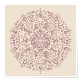 Poster Mandala on beige