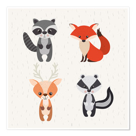Poster  Animaux de la forêt - Kidz Collection