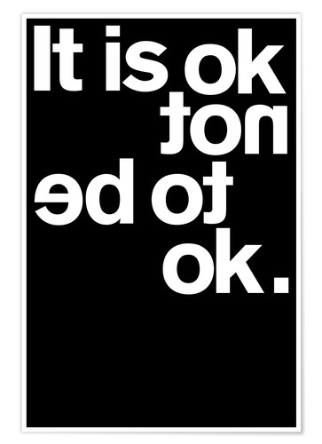 Poster It is ok not to be ok