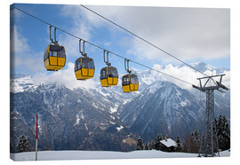 Tableau sur toile  Cable car in the Alps