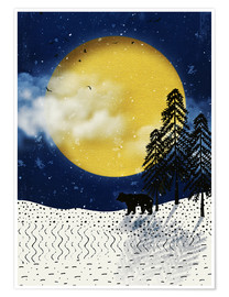 Poster winter moon