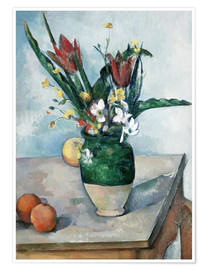 Poster  The Vase of Tulips - Paul Cézanne