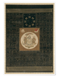 Poster Zhenwu with the Eight Trigrams, the Northern Dipper, and Talismans, Qing dynasty