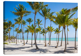 Tableau sur toile  Juanillo Beach, Cap Cana, Punta Cana, Dominican Republic, West Indies, Caribbean, Central America - Jane Sweeney