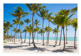 Poster  Juanillo Beach, Cap Cana, Punta Cana, Dominican Republic, West Indies, Caribbean, Central America - Jane Sweeney