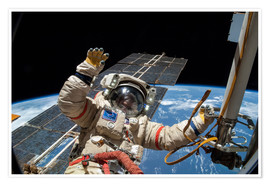 Poster  ISS spacewalk - Nasa