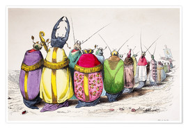 Paul D. Stewart - Caricature church beetles