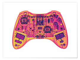 Poster  Computer game controller, X-ray - Gustoimages