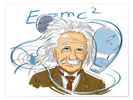 Poster  Albert Einstein, physicien - Harald Ritsch