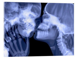 Verre acrylique  Lovers kissing, X-ray - Gustoimages