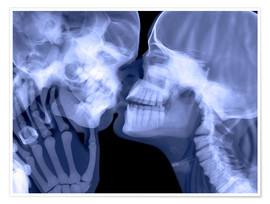 Poster  Lovers kissing, X-ray - Gustoimages