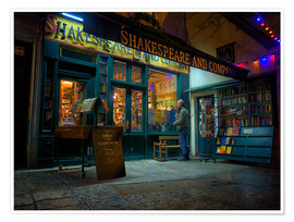Poster  Shakespeare and Company bookstore, Paris, France, Europe - Jim Nix