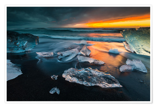 Poster Iceland Diamond Beach I