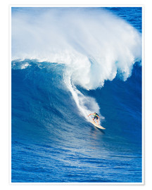 Poster  Surfeur, rides, vague