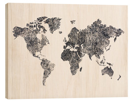 Bois  World Map - Dried