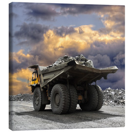 Tableau sur toile  Severe weather in the gravel pit