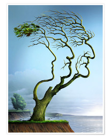 Poster Family tree, conceptual artwork