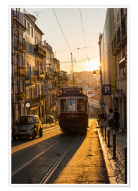 Poster  Tram in Lisbon, Portugal, Europe - Alex Treadway