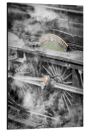 Alu-Dibond  The Flying Scotsman steam locomotive arriving at Goathland station on the North Yorkshire Moors Rail - John Potter