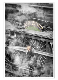 Poster  La locomotive à vapeur Flying Scotsman - John Potter
