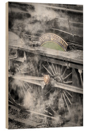 Tableau en bois  La locomotive à vapeur Flying Scotsman - John Potter