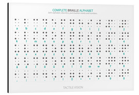 Tableau en aluminium  Alphabet braille (anglais) - Typobox