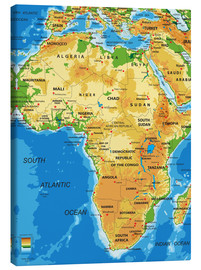 Toile  Africa - Topographic Map