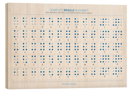 Bois  L'alphabet braille (anglais) - Typobox