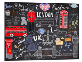 Verre acrylique  London at a glance