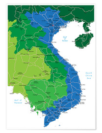 Poster Vietnam - Political Map