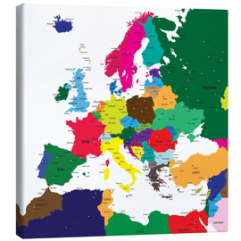 Toile  Europe - Political Map