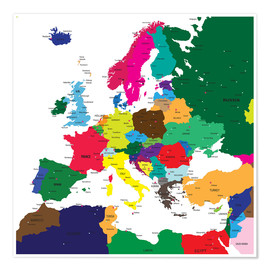 Poster  Europe - Political Map