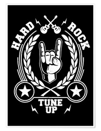 Poster  Hard rock - Durro Art