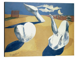 Tableau en aluminium  Stranded figures into the sunset - Paul Nash