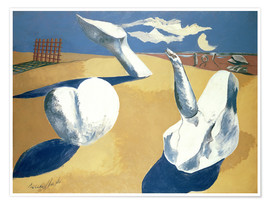 Poster  Stranded figures into the sunset - Paul Nash