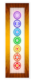 Poster  The Seven Chakras Series 6 - Colour Variant Golden Yellow - Dirk Czarnota