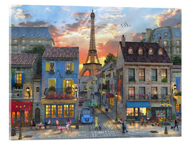 Verre acrylique  27818 streets of paris - Dominic Davison