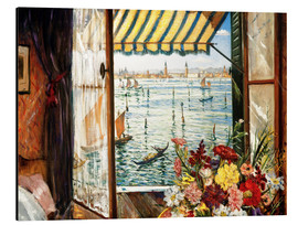 Alu-Dibond  Looking out a window in Venice - Christopher Nevinson