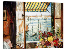 Tableau sur toile  Looking out a window in Venice - Christopher Nevinson