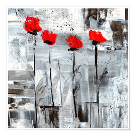 Poster Coquelicots rouges II