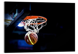Verre acrylique  Match de basketball